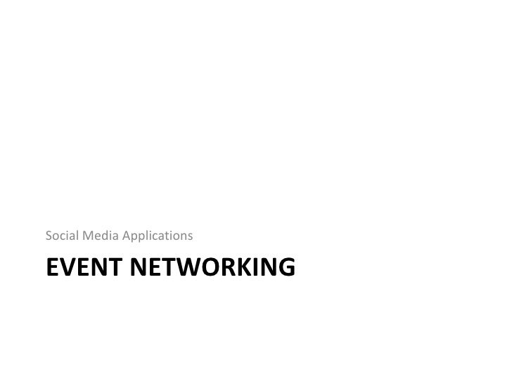 Event Networking - Social/Mobile Integration