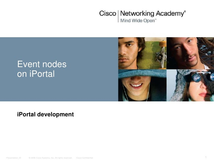 Event nodes on iPortal