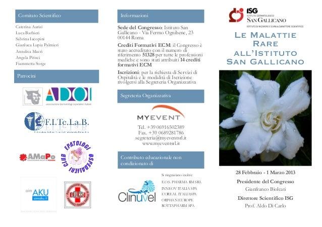 Evento giornata mondiale malattie rare 28-02-2013