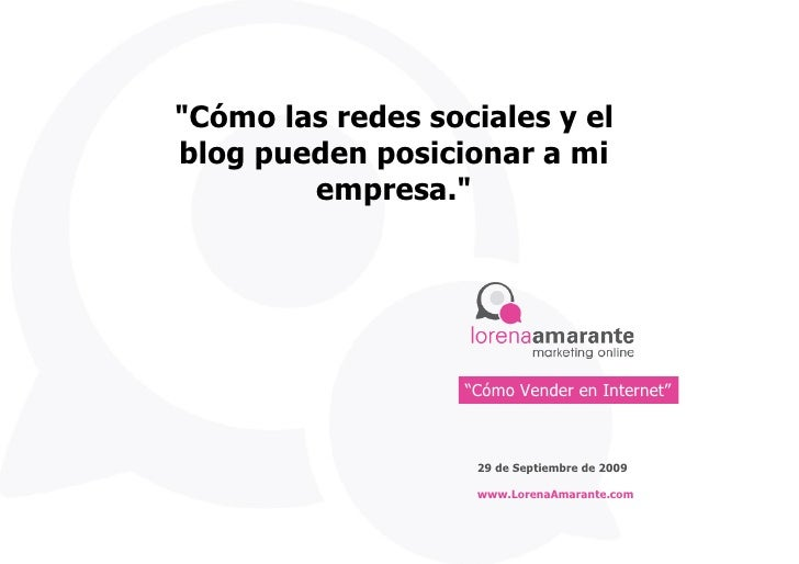 Panel Redes Sociales y Blogs Lorena Amarante