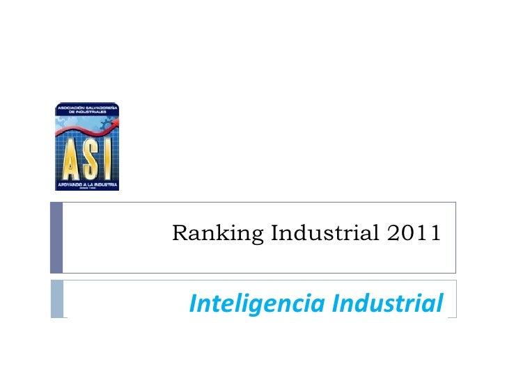 Ranking Industrial 2011 Inteligencia Industrial