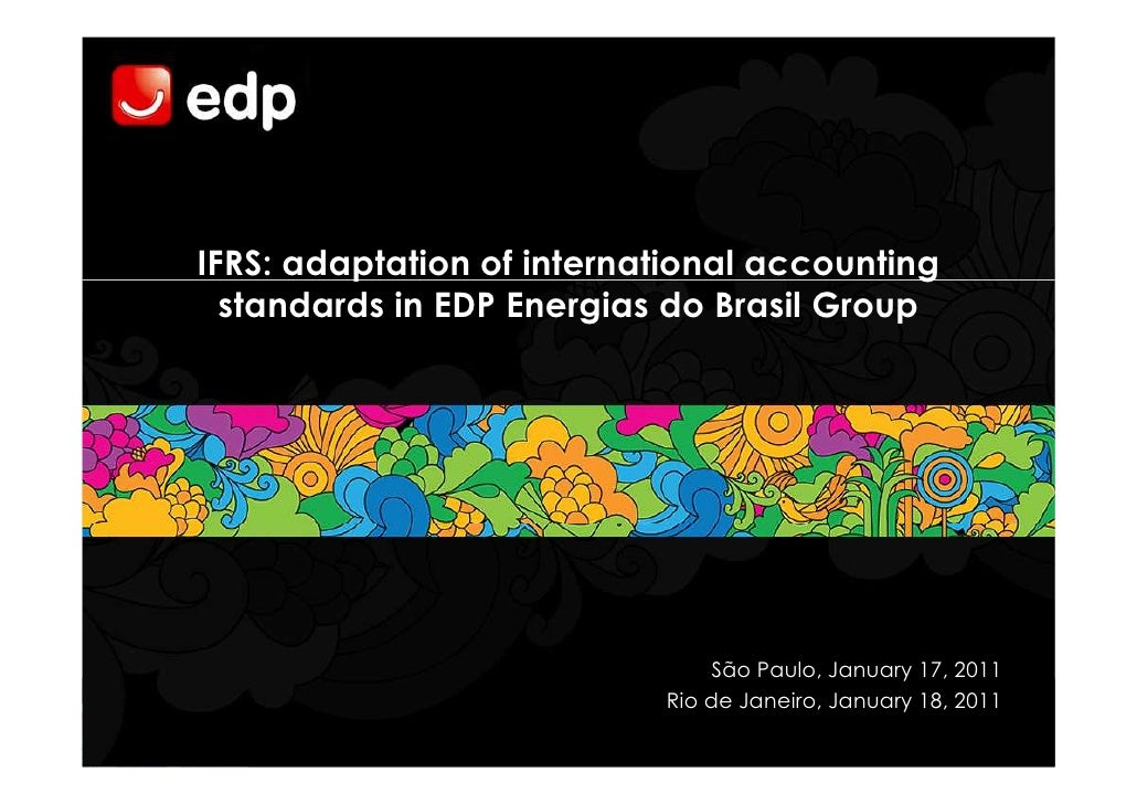 Evento IFRS: adaptation of international accounting standards in EDP Energias do Brasil Group