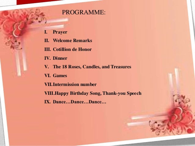 7th Birthday Party Program Sample Event organizing and management