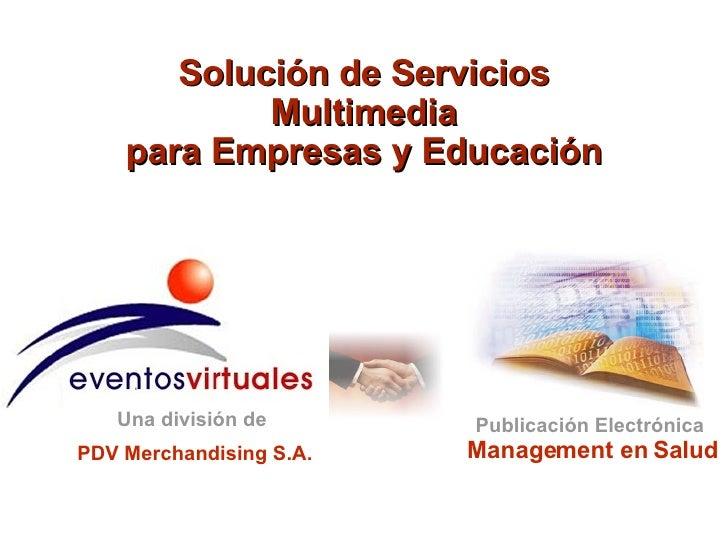 Eventos Virtuales y Management en Salud