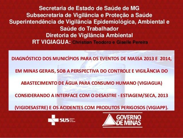 Eventos de massa | VIGIAGUA 2013