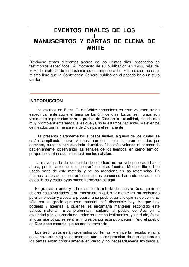 Eventos finales Elena de White