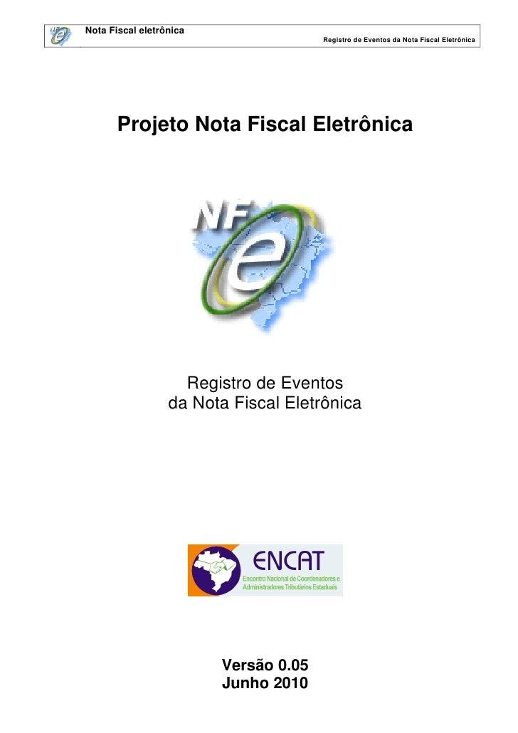 DRAFT: Manual de Eventos NF-e 2.0