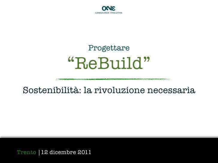 Re-build - Evento Sostenibilità