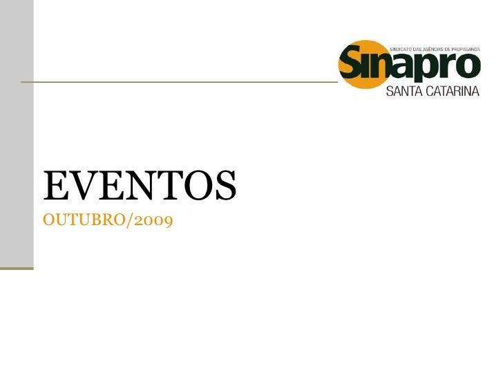 EVENTOS OUTUBRO/2009