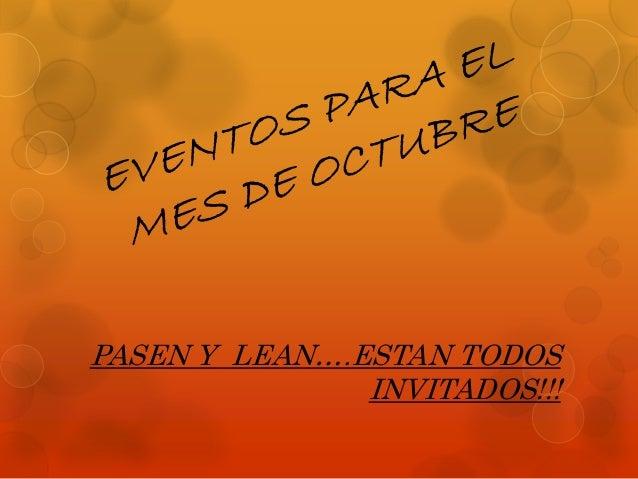 PASEN Y LEAN….ESTAN TODOS  INVITADOS!!!