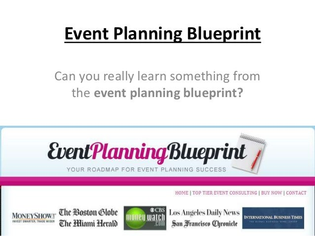 Event Planning Blueprint Can you really learn something from the event planning blueprint?