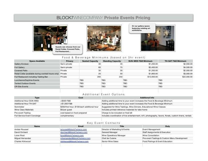 BLOCK7WINECOMPANY Private Events Pricing                                                                                  ...