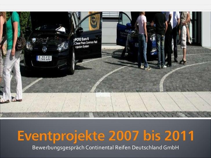 Bewerbungsgespräch Continental Reifen Deutschland GmbH