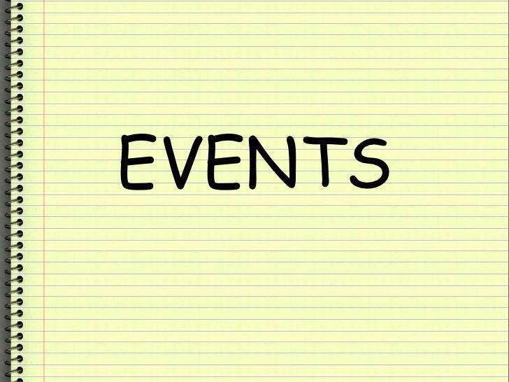 Events Presentation