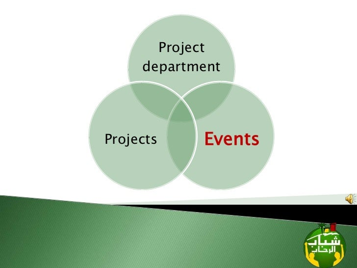 Project     departmentProjects    Events