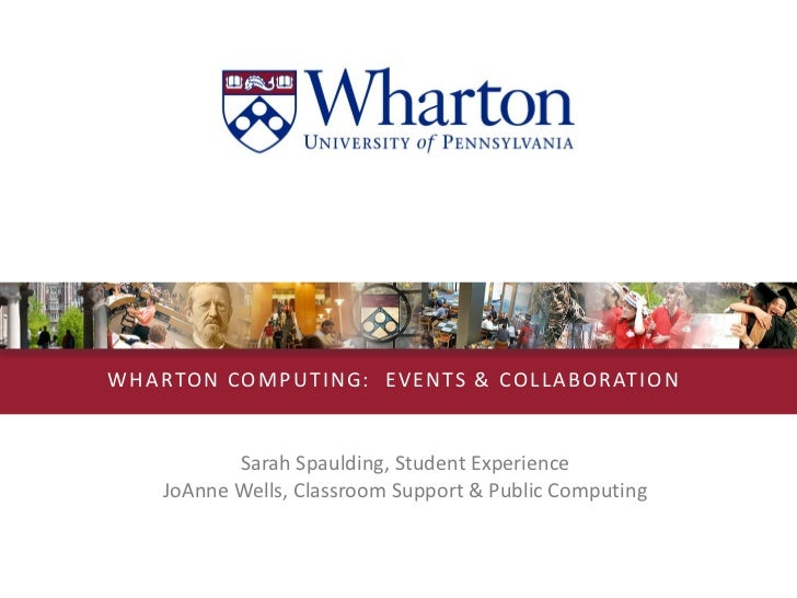 Lunch & Learn:  Events and Collaboration at Wharton