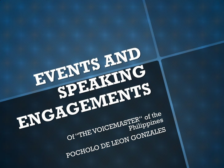 Pochology Events and speaking engagements