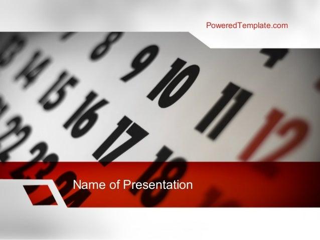 Events Calendar PowerPoint Template by PoweredTemplate.com