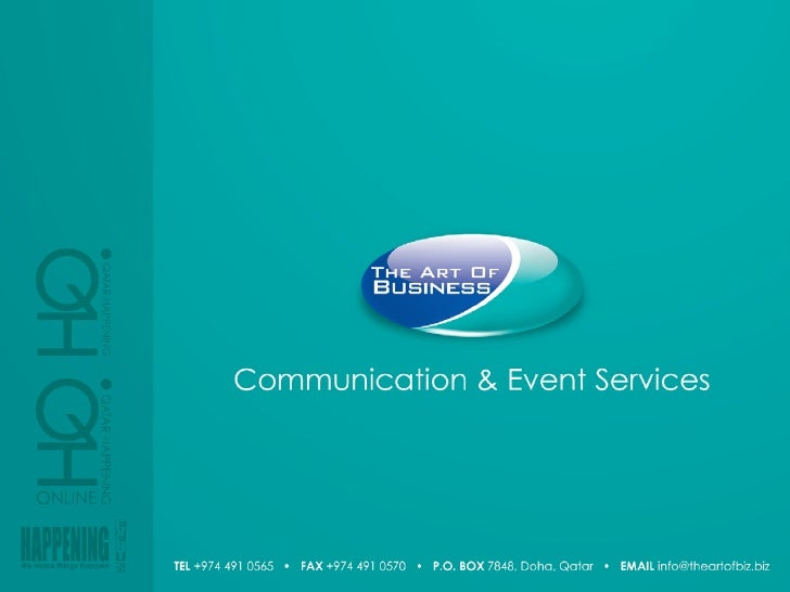 Event Services Menu