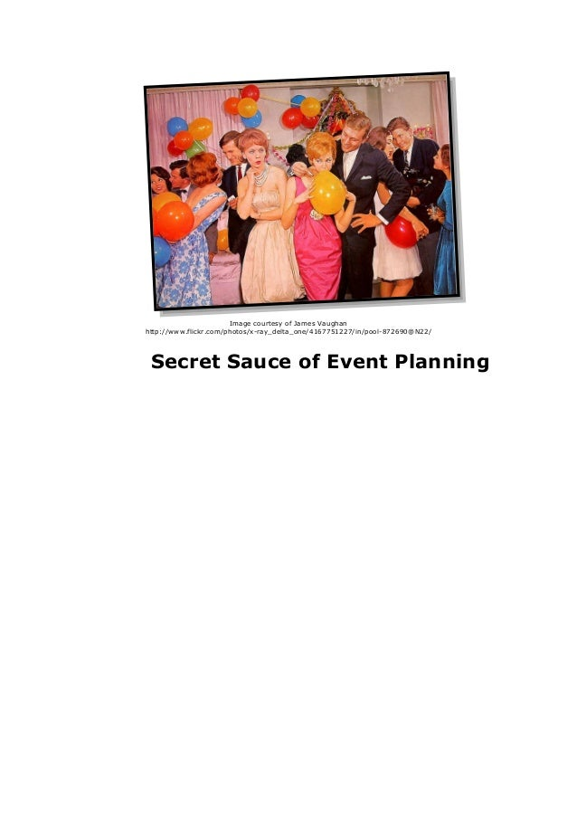 The Secret Sauce of Event Planning: White Paper