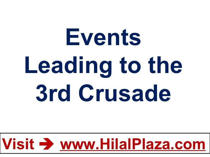 Events Leading to the 3rd Crusade