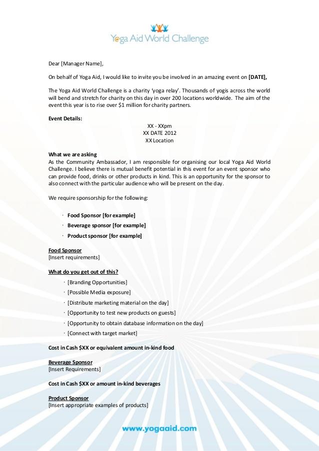 Event Sponsorship Request Document