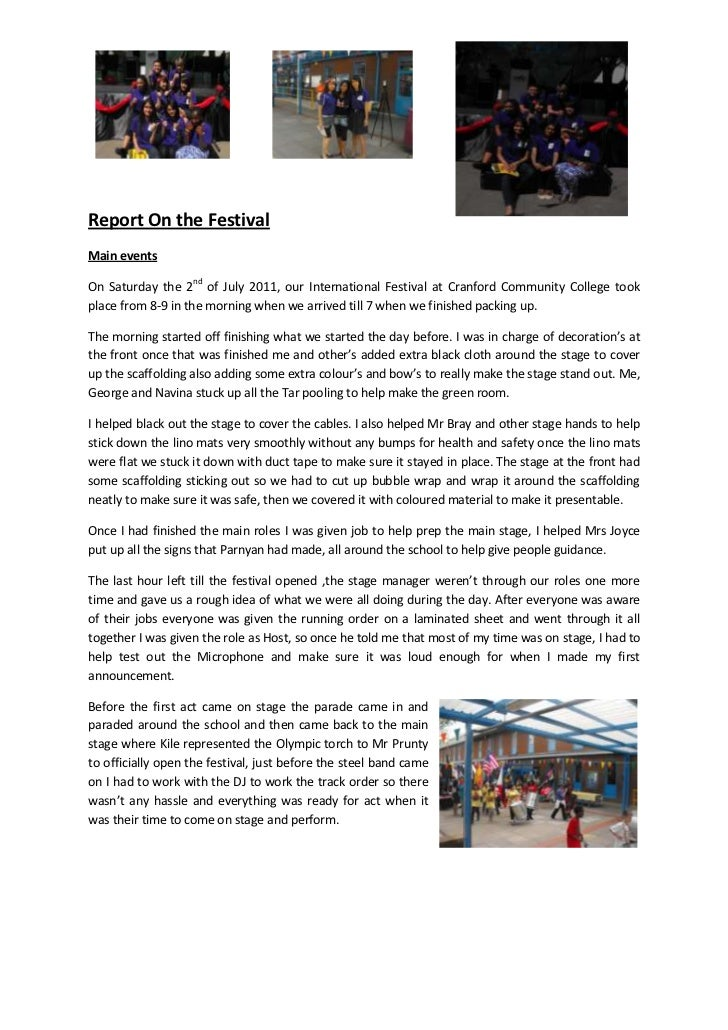 76200-3905251914525-3905253803650-472440<br />Report On the Festival<br />Main events<br />On Saturday the 2nd of July 201...