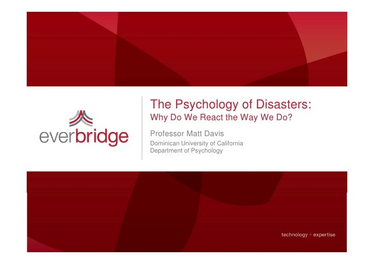 Everbridge: The Psychology of Disasters