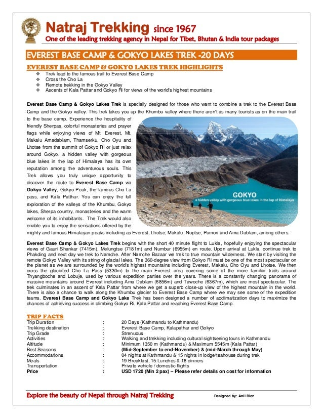 Natraj Trekking since 1967 One of the leading trekking agency in Nepal for Tibet, Bhutan & India tour packages Explore the...