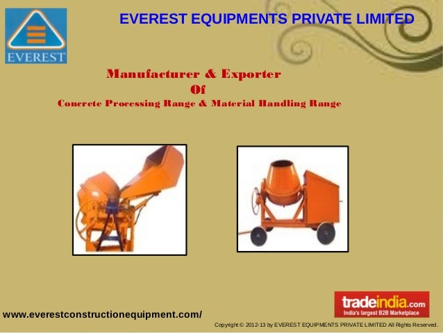 EVEREST EQUIPMENTS PRIVATE LIMITED