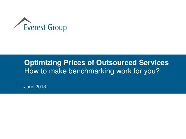 Optimizing Prices of Outsourced Services   How to make benchmarking work for you?