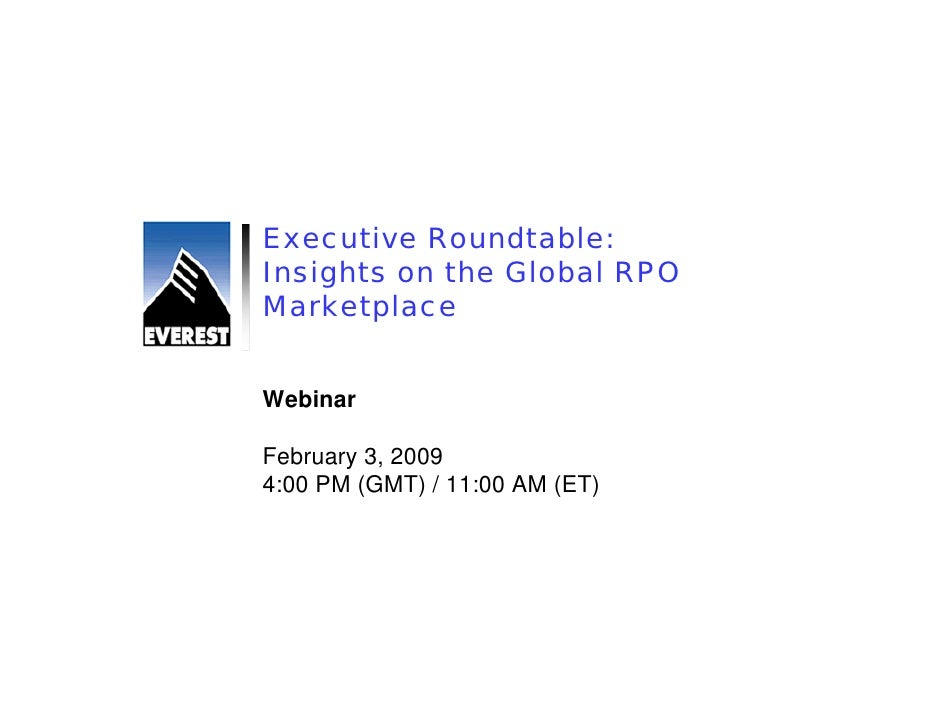 Executive Roundtable: Insights on the Global RPO Marketplace