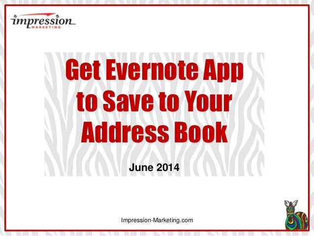 Evernote LinkedIn App: How to Save to Address Book
