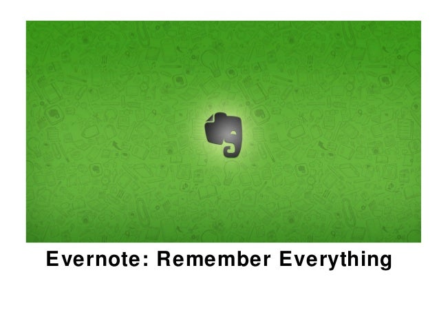 Evernote a Quick Start Overview