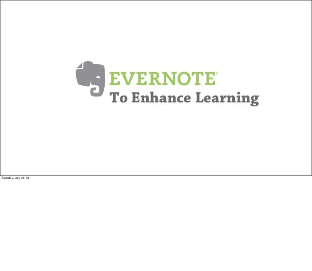 Evernote - Enhance Learning_2013