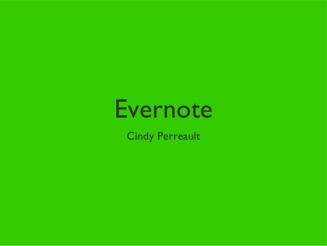 Evernote for posting