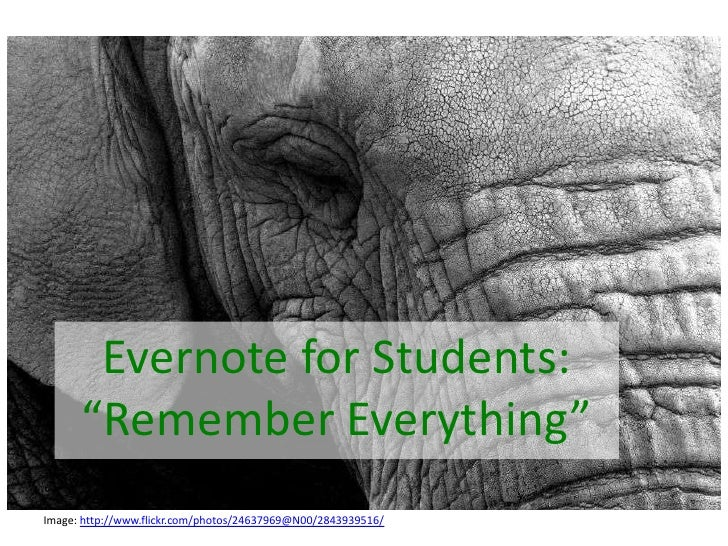 Evernote for students