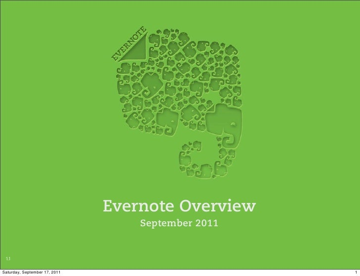 Evernote overview   sept 2011