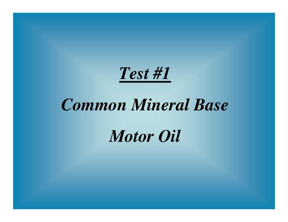 mineral oil acid test