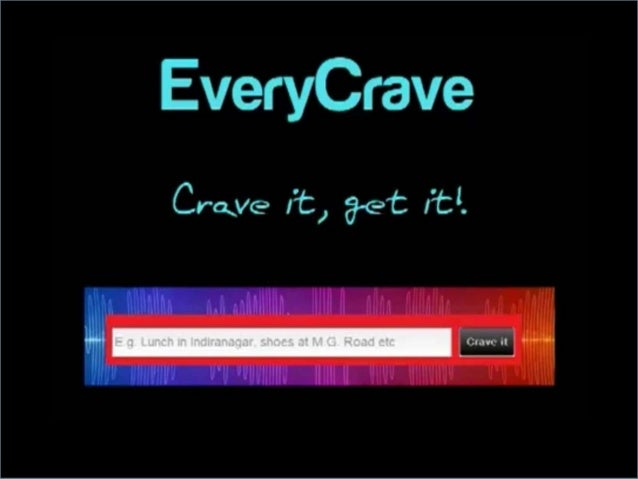    Visit www.everycrave.me   Available via Web, Facebook app, Windows 8 and    Android.   Currently on 5th release   E...