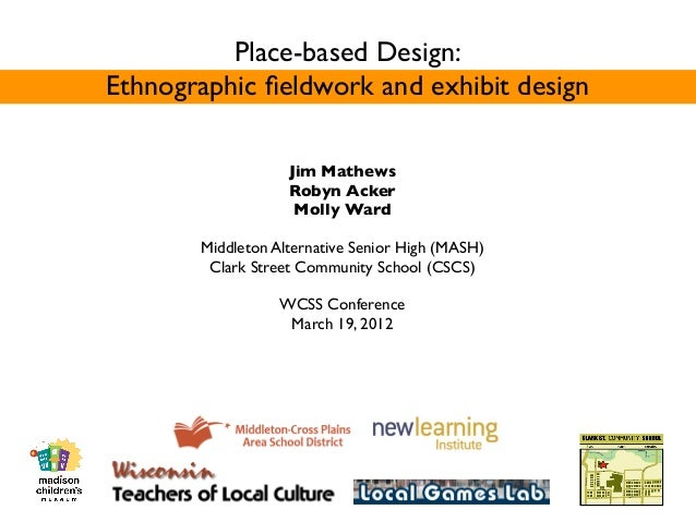 Place-based Design:Ethnographic fieldwork and exhibit design                   Jim Mathews                   Robyn Acker   ...