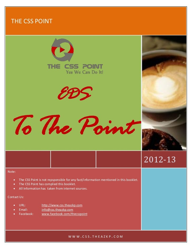 THE CSS POINT                                  EDS   To The Point                                                         ...