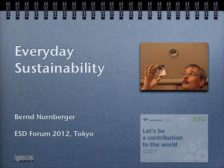 Everyday Sustainability – ESD Forum 2012 Tokyo, how to save when buying home appliances
