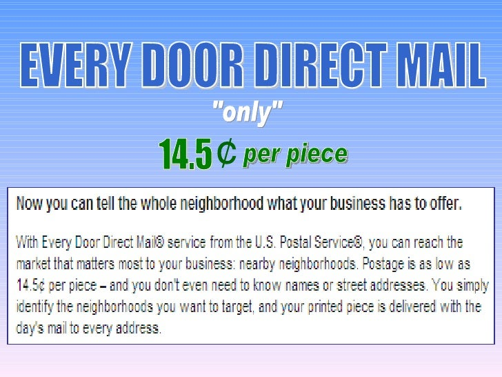 Every door direct mail   retail