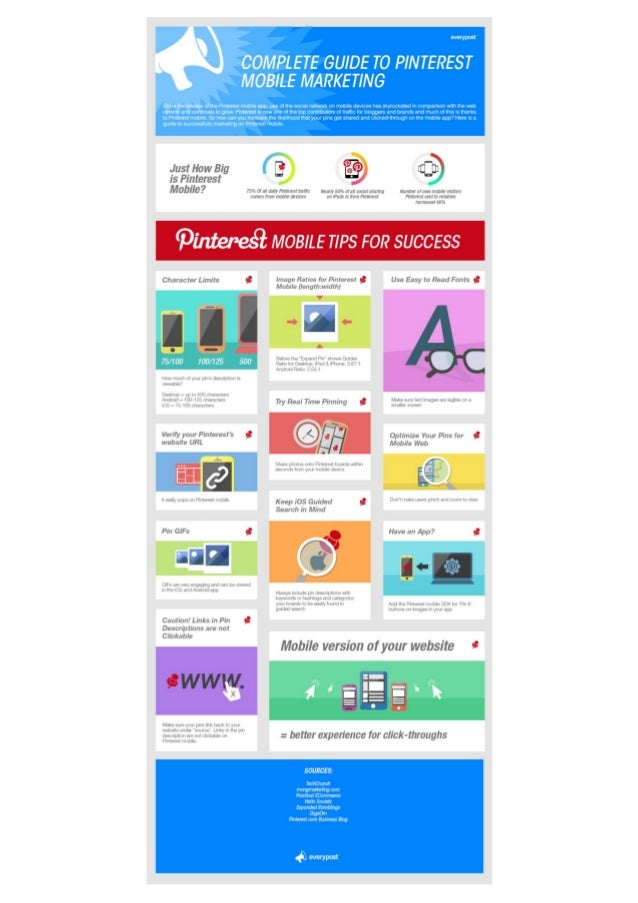 Complete Guide to Pinterest Mobile Marketing (Infographic)