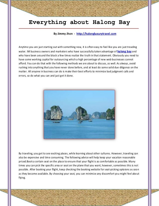 Everything about halong bay