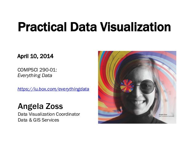 Practical Data Visualization April 10, 2014 COMPSCI 290-01: Everything Data https://iu.box.com/everythingdata Angela Zoss ...