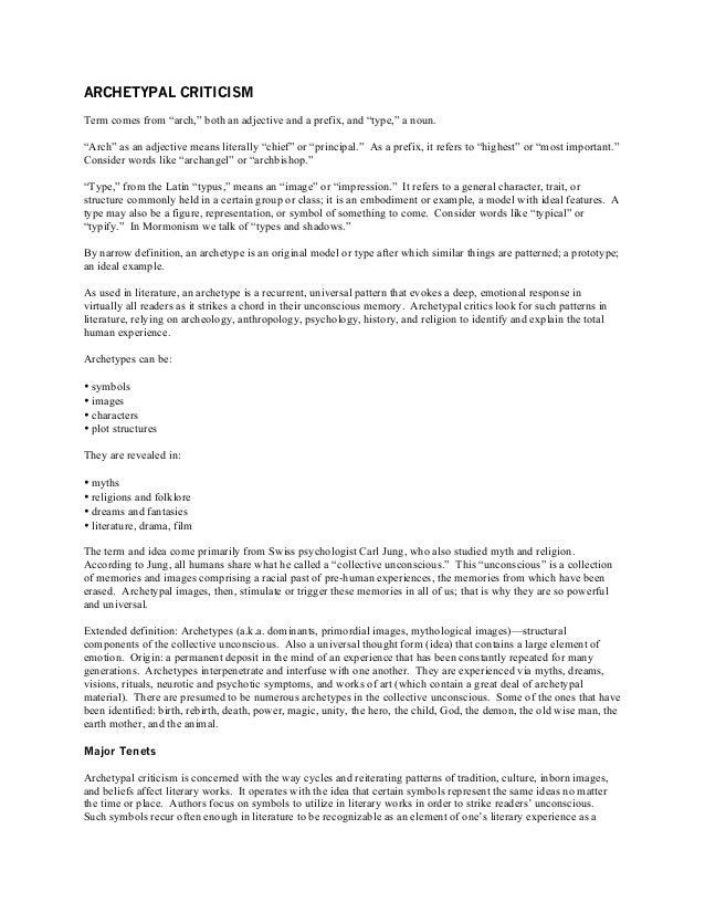 Archetypal Criticism-LET Review