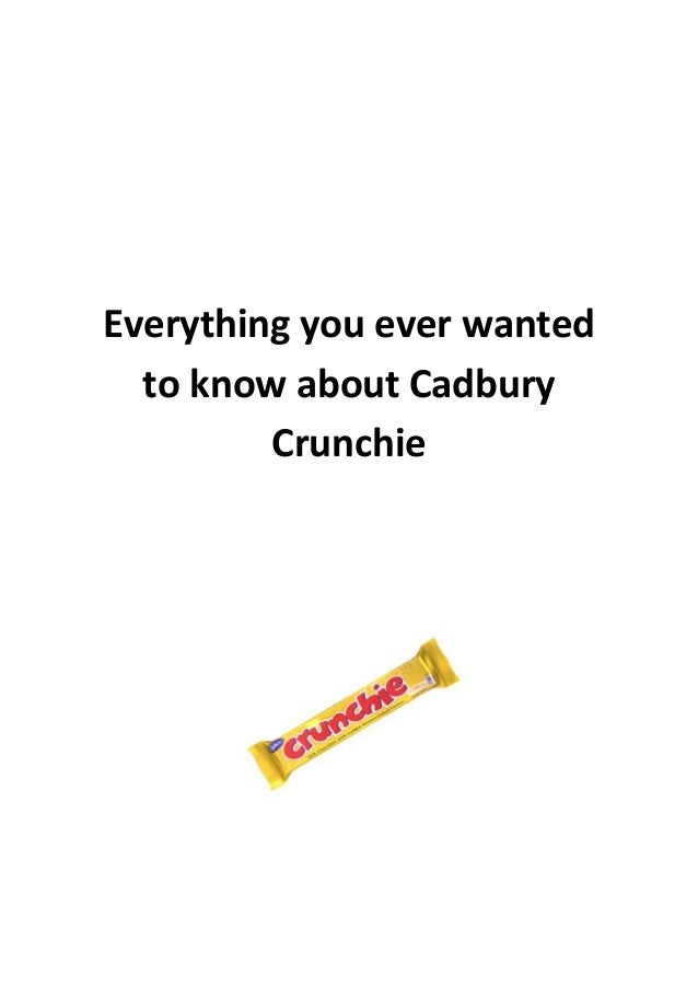 Everything you ever wanted to know about Cadbury Crunchie
