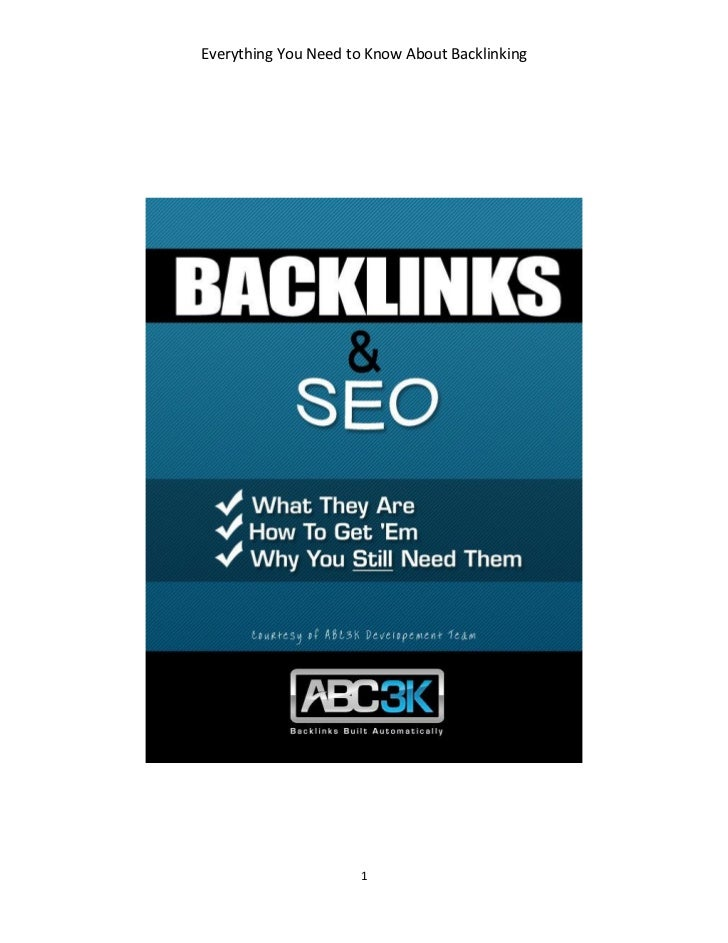 Everything You Need To Know About Back Linking